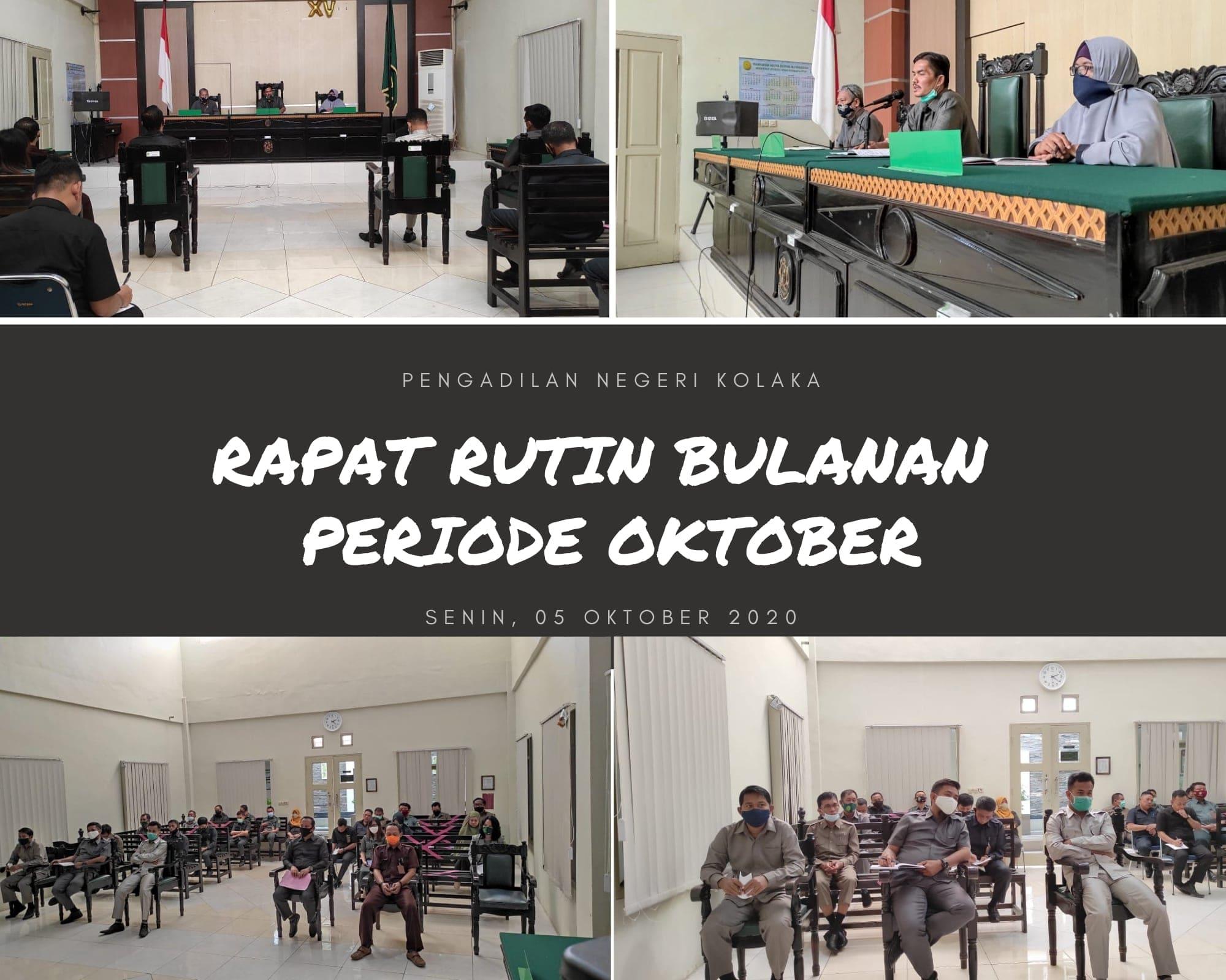 Rapat rutin bulanan periode Oktober 2020