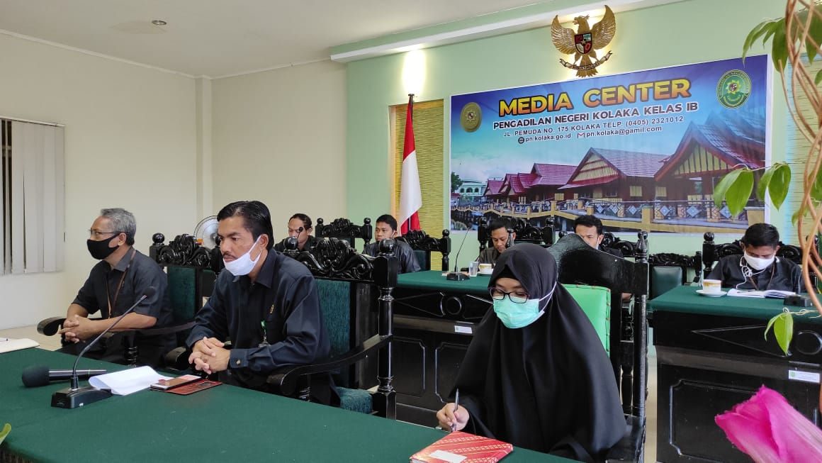 Pembinaan bidang teknis dan administrasi yudisial oleh pimpinan Mahkamah Agung RI secara virtual